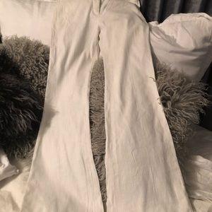 Gorgeous ELIE TAHARI Linen pinstriped Wide leg
